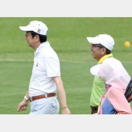 安倍首相(左)と加計孝太郎理事長/(C)日刊ゲンダイ