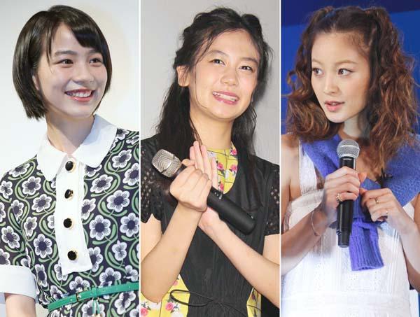 (左から)のん、清水富美加、西山茉希も事務所と確執(C)日刊ゲンダイ