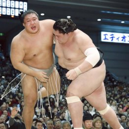 後輩の照ノ富士(右)には水をあけられたが…