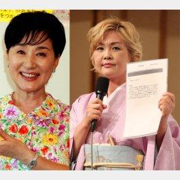 泰葉(右)が松居一代をチクリ/(C)日刊ゲンダイ