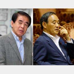 下村元文科相(左)と菅官房長官/(C)日刊ゲンダイ