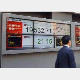 日経平均は膠着(C)日刊ゲンダイ