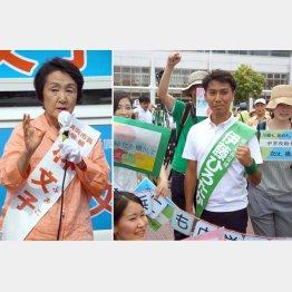 横浜市長選、現職の林文子候補と前市議の伊藤大貴候補(C)日刊ゲンダイ