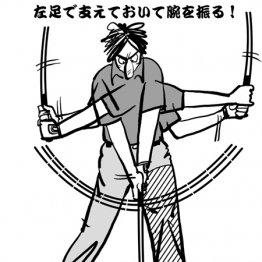 バックスイングは手→腕→胴体の順に動く