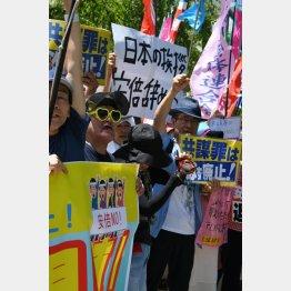安倍政権下でデモが一般に浸透(C)日刊ゲンダイ