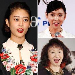 写真右上から時計回りに黒木瞳、三田佳子、高畑充希(C)日刊ゲンダイ