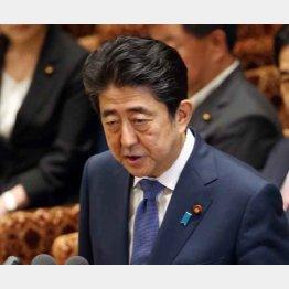 集中審議で答弁する安倍首相(C)日刊ゲンダイ
