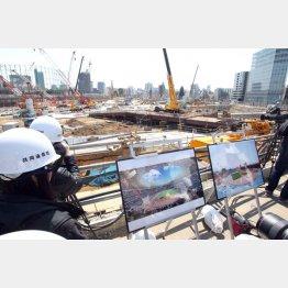新国立競技場の建設現場(C)日刊ゲンダイ