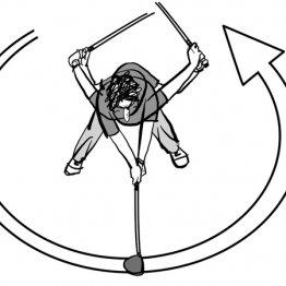 フォローは「真っすぐ」ではなく「回転方向に振り抜く」