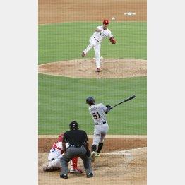 四回、イチローに適時二塁打を打たれたダルビッシュ(C)共同通信社