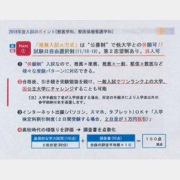 これがパンフレットの文言(C)日刊ゲンダイ