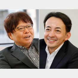 市川南さん(右)と中森明夫さん/(C)日刊ゲンダイ