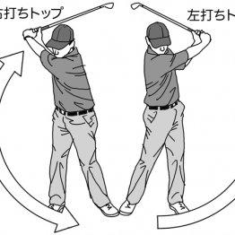 左打ちのトップをイメージすると振り抜きが劇的によくなる