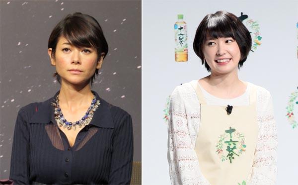 ガッキーに差をつけられた真木よう子(左)/(C)日刊ゲンダイ