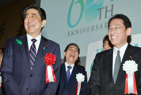 宏池会を語る会での様子(C)日刊ゲンダイ