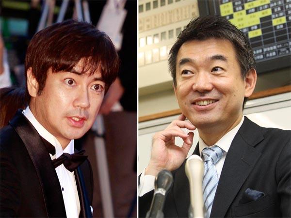 MCを務める橋下氏(右)と羽鳥アナ/(C)日刊ゲンダイ