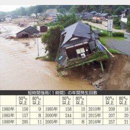 確実に増加している豪雨(C)日刊ゲンダイ