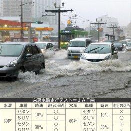 JAFに聞いた 自動車は水深何センチで動かなくなるのか