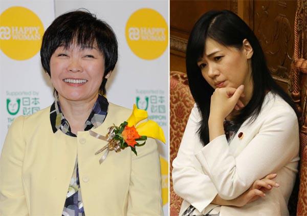 安倍昭恵夫人(左)と上西小百合議員も女子大出身(C)日刊ゲンダイ