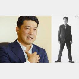 壱角家・國松晃社長(右はモデル時代)/(C)日刊ゲンダイ