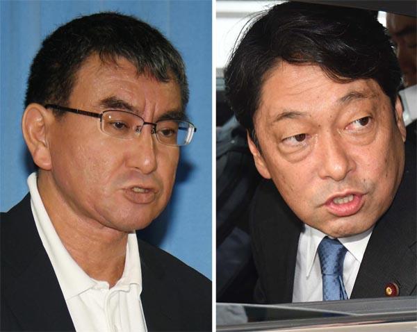 河野外相(写真左)と小野寺防衛相(C)日刊ゲンダイ