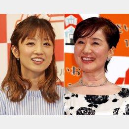 小倉優子(左)と松居一代(C)日刊ゲンダイ