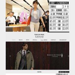 三陽商会とコナカ(C)日刊ゲンダイ