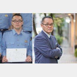 左は警察官時代の小川泰平さん(提供写真)