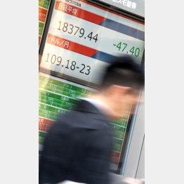 1万9000円割れが近づく(C)日刊ゲンダイ