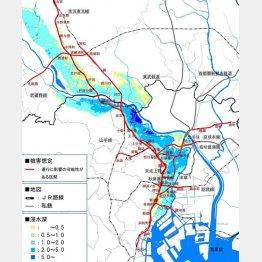 関東整備局が明らかにしたシミュレーションの図