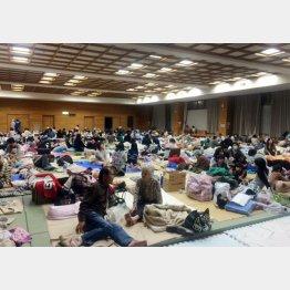 熊本県益城町の避難所の様子(C)日刊ゲンダイ