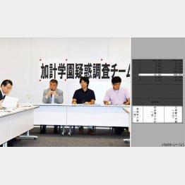 疑惑の証拠を示した黒川敦彦氏(右から2人目)/(C)日刊ゲンダイ