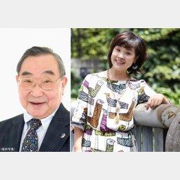 重田千穂子さん(右)にとって熊倉一雄さんは「本当の父のような存在」だ(C)日刊ゲンダイ