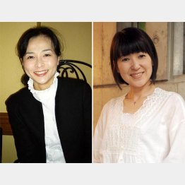 元おニャン子クラブの新田恵利(右)と元セイントフォーの岩間沙織(C)日刊ゲンダイ
