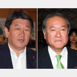 茂木経済再生相(左)と鈴木五輪相(C)日刊ゲンダイ