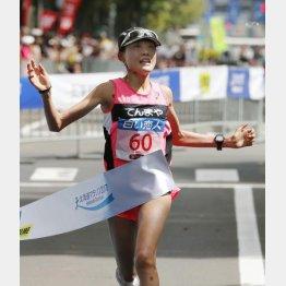 北海道マラソンで初優勝した前田穂南(C)共同通信社