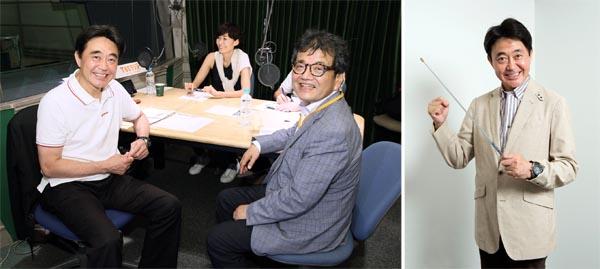 ラジオ番組のスタジオで=写真左(左から)佐々木正洋アナ、田丸麻紀さん、森永卓郎さん(C)日刊ゲンダイ