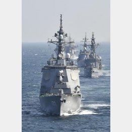 ミサイル防衛で装備を高める海自のイージス艦(C)共同通信社
