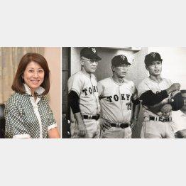 藤田監督(写真左・中央)のそばが定位置だった(C)日刊ゲンダイ