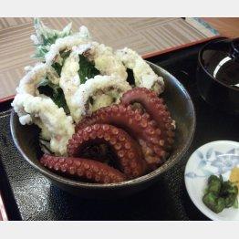 天ぷらとボイル、味の違いを堪能(C)日刊ゲンダイ