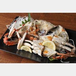 味が濃い泉州の渡り蟹(C)日刊ゲンダイ