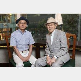 桂米丸さん(右)と吉川潮さん/(C)日刊ゲンダイ