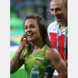エリツァ・ヤンコワはリオ五輪で女子フリー48キロ級銅メダリスト(C)日刊ゲンダイ