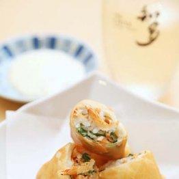 【酢飯納豆の春巻き揚げ】柚子マヨがひとつにまとめる