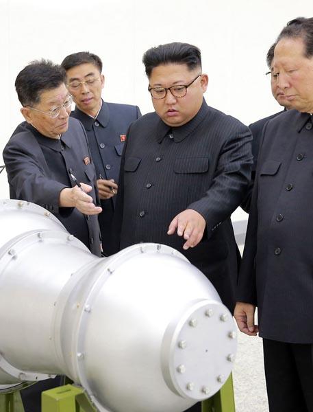 核弾頭の開発現場(C)朝鮮通信=共同