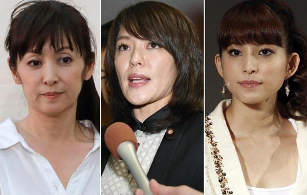 左から斉藤由貴、今井絵理子、上原多香子(C)日刊ゲンダイ