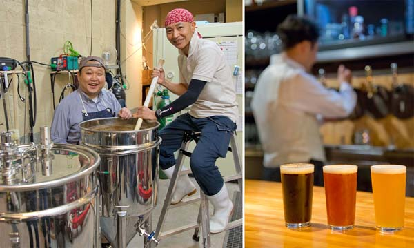 醸造所まで数メートル、醸造長の榊さんと設備担当の小野寺さん(写真左)/(C)日刊ゲンダイ