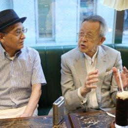 桂米丸(右)と吉川潮/(C)日刊ゲンダイ