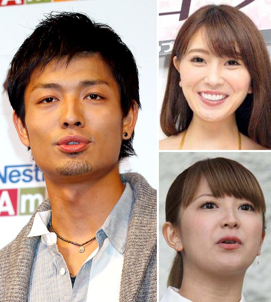 (左から時計回りに)中村昌也、森咲智美、矢口真里(C)日刊ゲンダイ