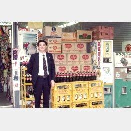 大阪支店時代の堀切社長(提供写真)